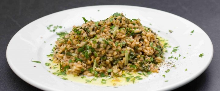 Orzotto s mangoldem
