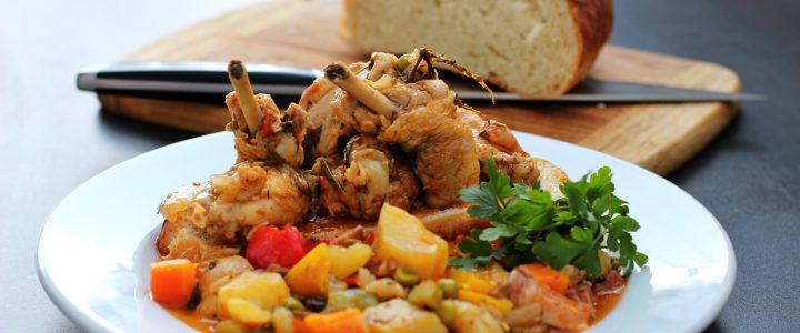 Dušené kuře na zelenině