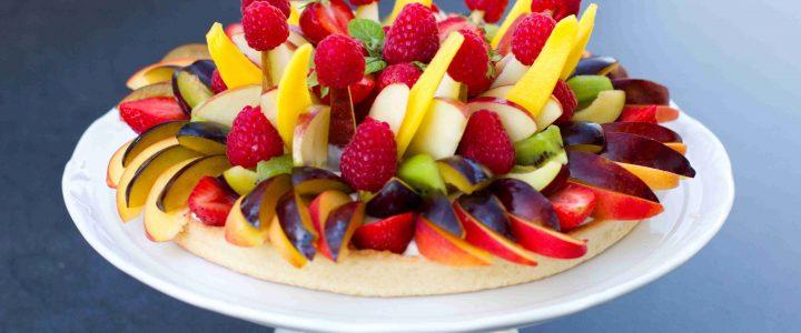 Koláč s čerstvým ovocem