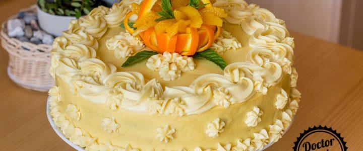 Pomerančový dort s pomerančovým krémem